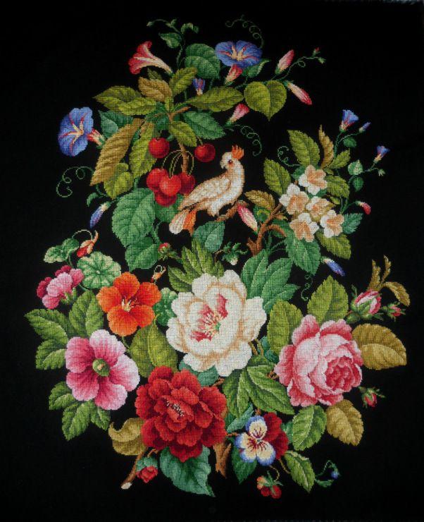 Gallery.ru / Букет - Вышивка по старинным схемам - Maarinna