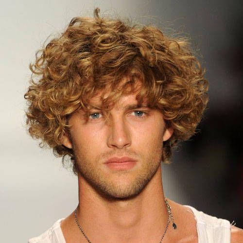 Curly men hair cut