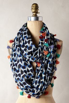 Anthropologie Quilted Ikat Scarf #anthrofave #anthropologie