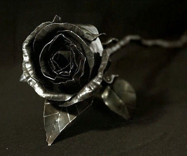 Steel Metal Rose Flower | Metals, Steel and Rose flowers