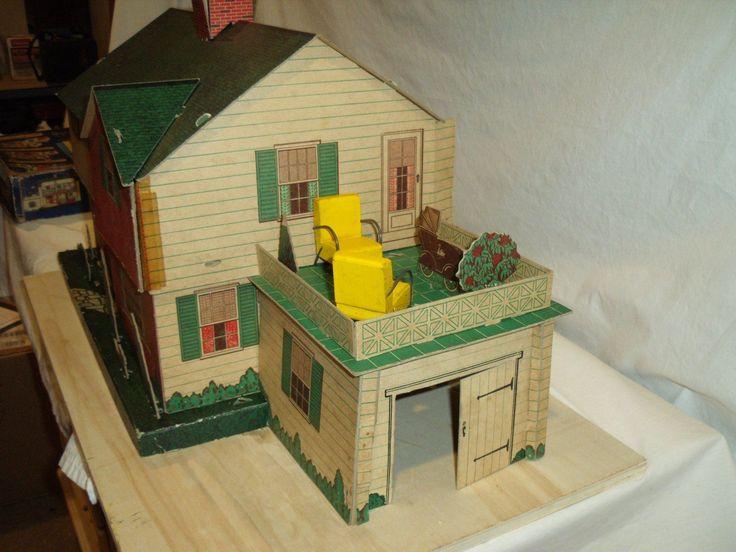 Original in Box 1940's Strombecker Dream Home Doll House with Furniture | eBay