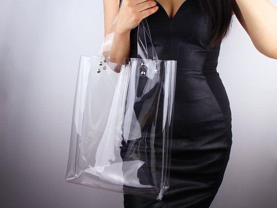 Clear Oversized Tote Pvc Vinyl Plastic Large Purse Shopper