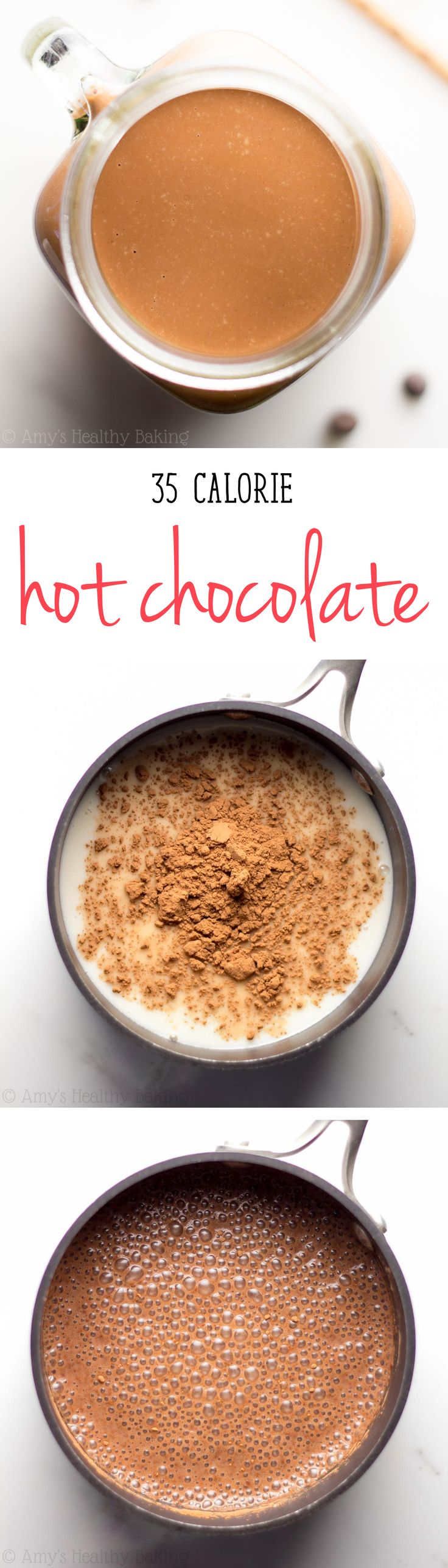 Super Easy Hot Chocolate -- my family BEGS for this during the holidays, thanks to one creamy secret ingredient! You'll never use the packaged mixes again!