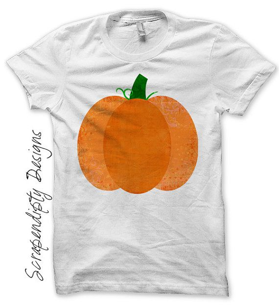 Iron on Pumpkin Shirt PDF  Fall Iron on by ScrapendipityDesigns