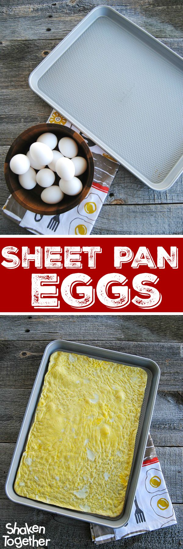 Need to make eggs for a crowd? Want to prepare a big batch of make ahead breakfast sandwiches? I'll show you how to cook 12 eggs quick ... make Sheet Pan Eggs!