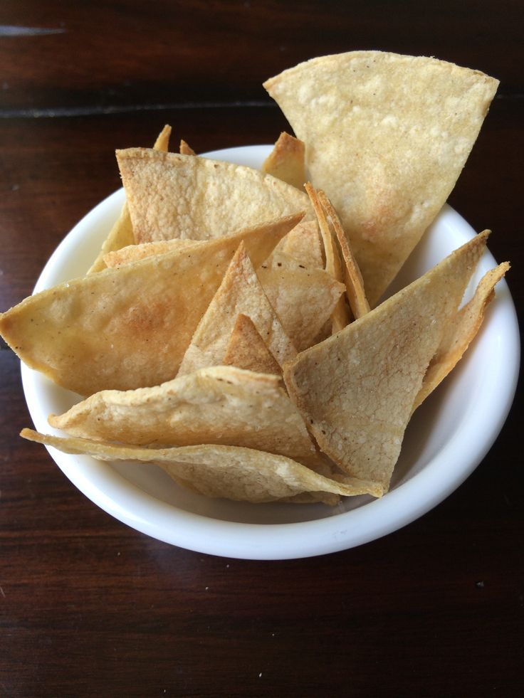 These baked homemade tortilla chips are not only good for you, but they taste great and only take about 5 minutes to make. Making them yourself helps with portion control as well.