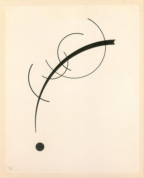 Vasily Kandinsky | Free Curve to the Point - Accompanying Sound of Geometric Curves | The Met