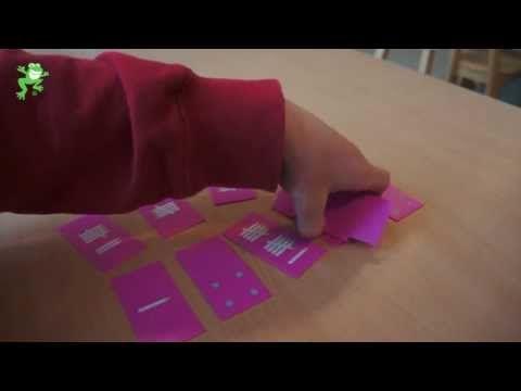 Uitleg van het spel 'Kampen'. Doel: herkennen van de getalbeelden en de getalsymbolen 1 tot en met 12.