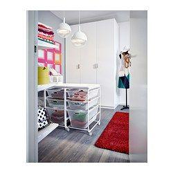 ALGOT Structure/corb fil/tabl sup/roul, blanc - IKEA