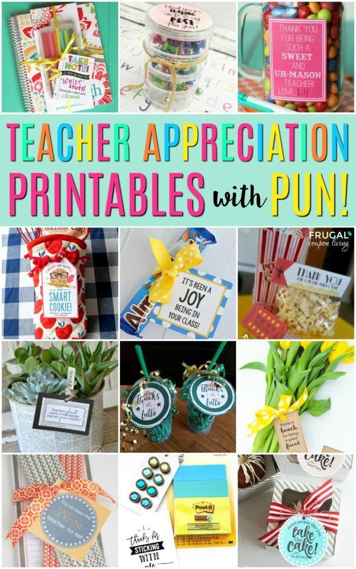 Punny Teacher Gifts With Printables Teacher Appreciation Gifts Diy Teacher Appreciation Gifts Teachers Appreciation Week Gifts