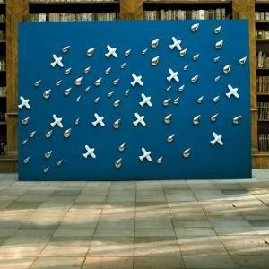 Combination of Aeroplane and Rain 3D wallpaper
