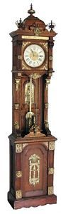 Antique  Floor Clocks | 7564-Original-Ansonia-Clock-Company-Antique-Standing-Floor-Clock