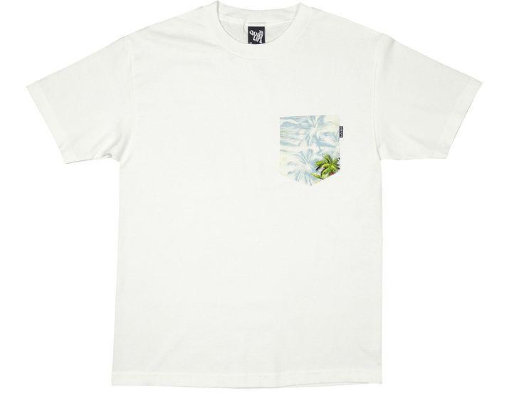 The Quiet Life - Hawaiian Pocket Tee - White