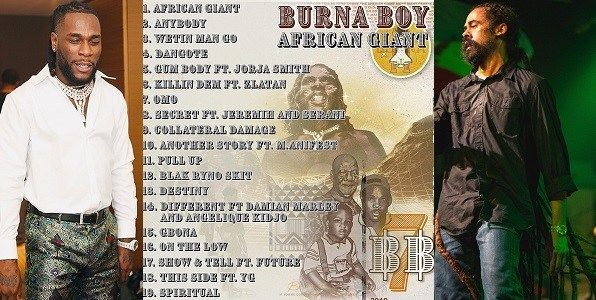 Burna Boy Features Bob Marley's Son And Others In New Album