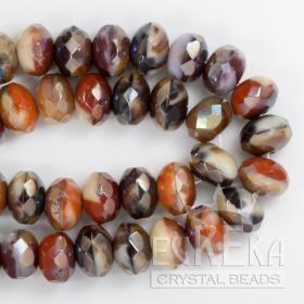Earthy Multi Celsian Gemstone Doughnut 9x6 mm | Eureka Crystal Beads