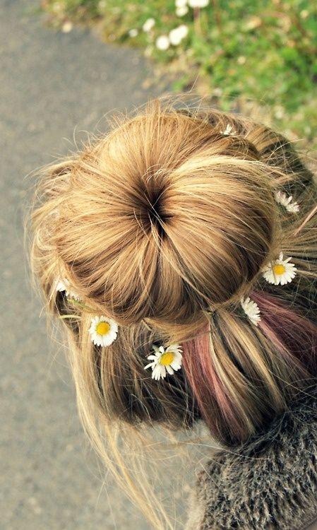 floral bun. zazumi.com