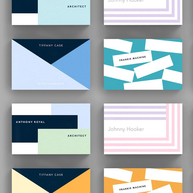 A selection of Graphic business card templates available to customise and order on our site.