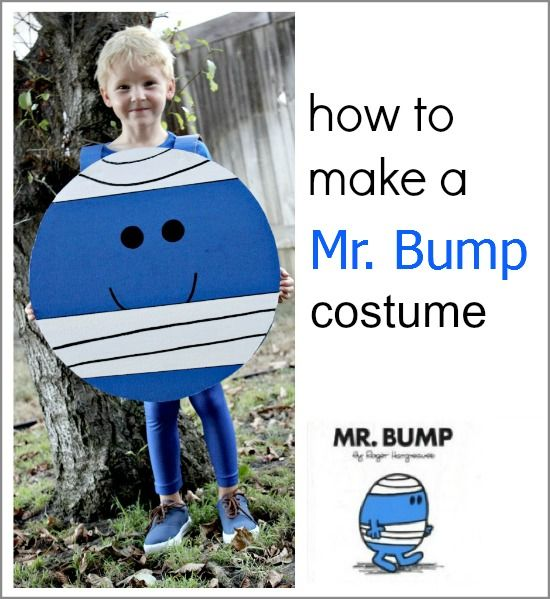 A semi handmade Mr Bump costume