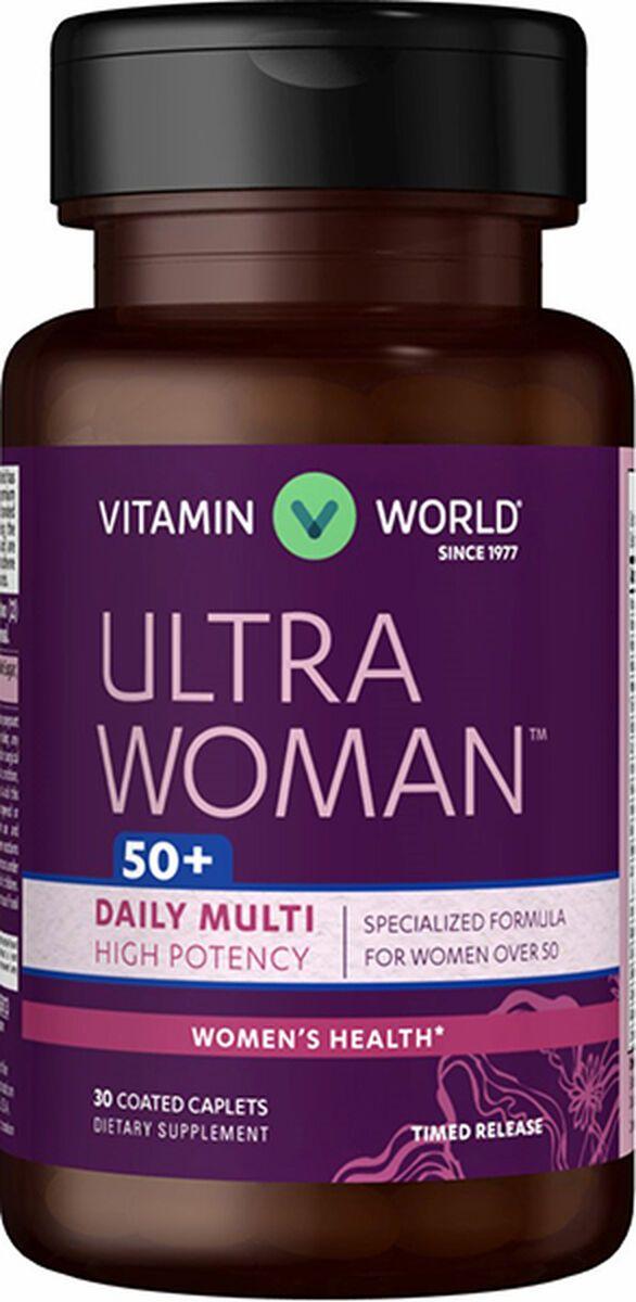 Ultra Woman 50 Plus 60 Caplets Senior Multivitamins For Women Vitamin World Multivitamin Good Multivitamin For Women Vitamins