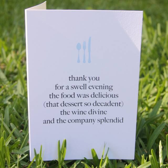 I'm selling Thank You for Dinner Card - A$3.00 #onselz