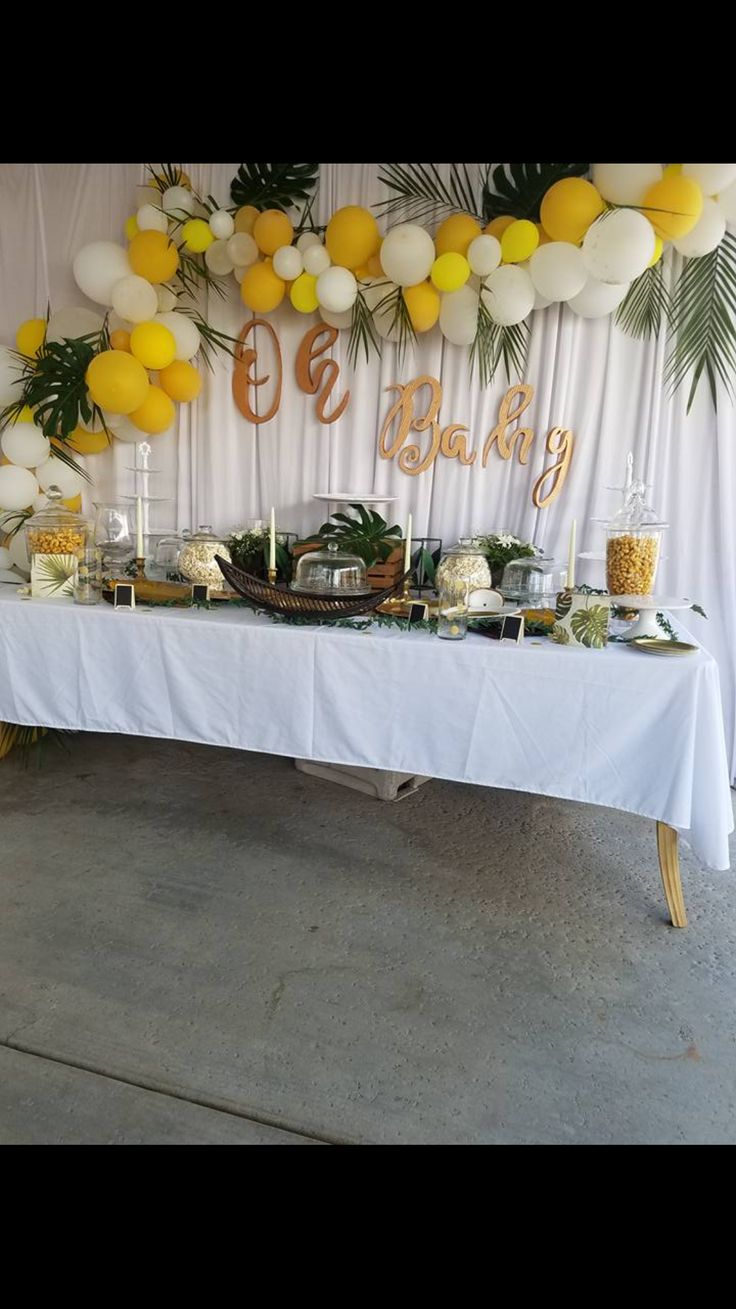 Tropical baby shower