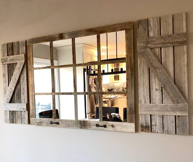 46 X 36 Homesteader Style 12 Pane Farmhouse Window Mirror Farmhouse Windows Farm House Living Room Farmhouse Wall Decor