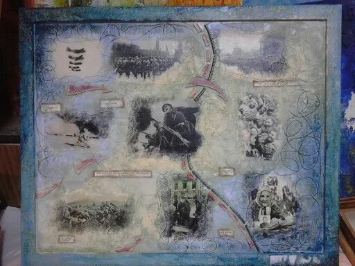 Collage, WW II. Long way to the Victory.