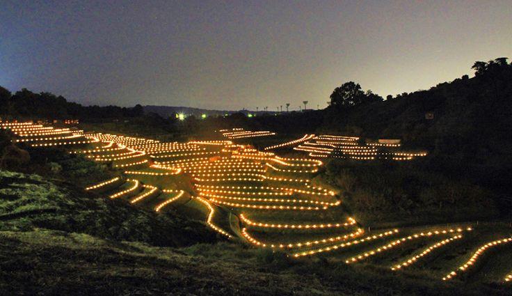 金剛山の里棚田夢灯り&収穫祭2016