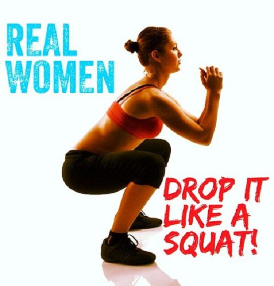 Check out this quote to inspire women to add more squats in their workout routine. Easily share this saying on Facebook, Pinterest, or Twitter!