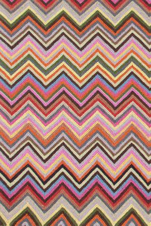 Zig Zag Multi 4x6 wool hooked area rug!