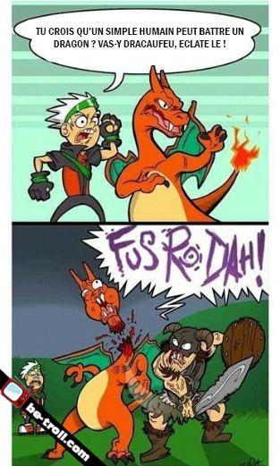 Tu ne peux pas battre Dracaufeu ! #Pokémon #Skyrim