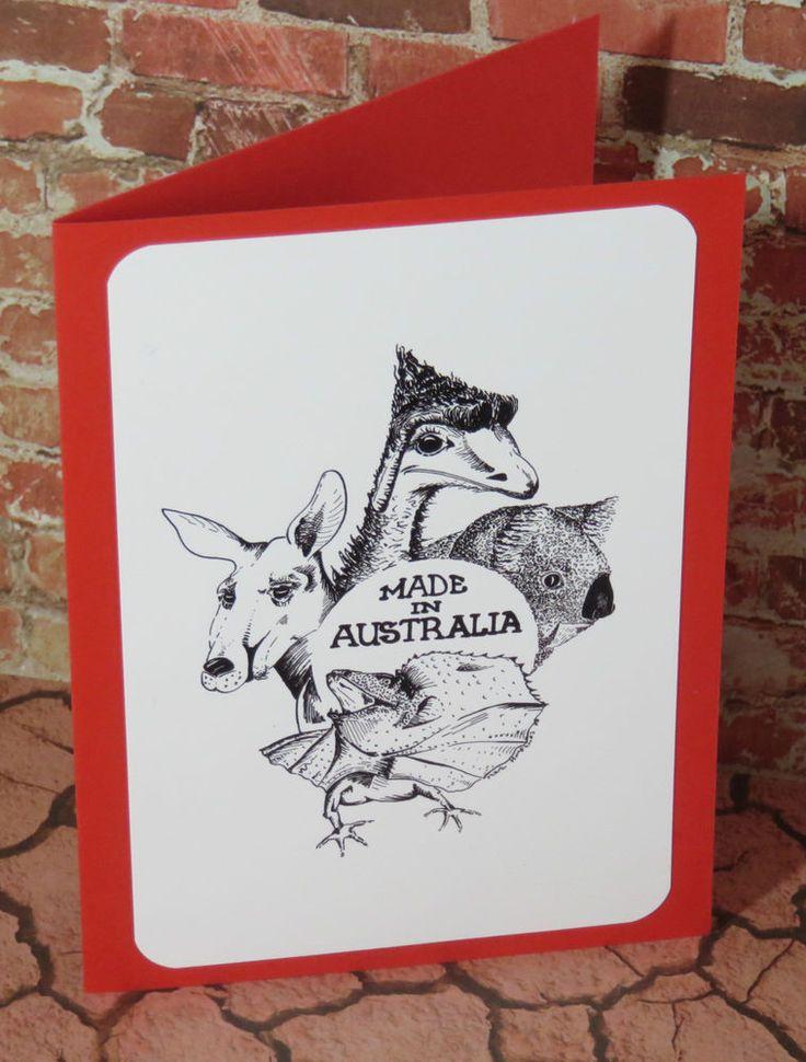 Handmade  Greeting , Birthday , Gift , Card ,  Original Made in Australia