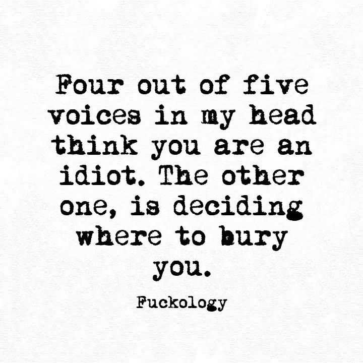 the voices in my head...