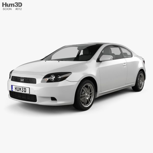 Scion tC Base 2008 3d model from Hum3d.com.