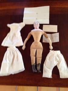 Antique Porcelain Covered Wagon China Doll Civil War Letter   eBay