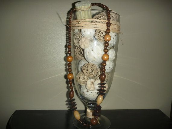 Wooden Bead Necklace by BurrowsOfAccessories on Etsy, $15.00
