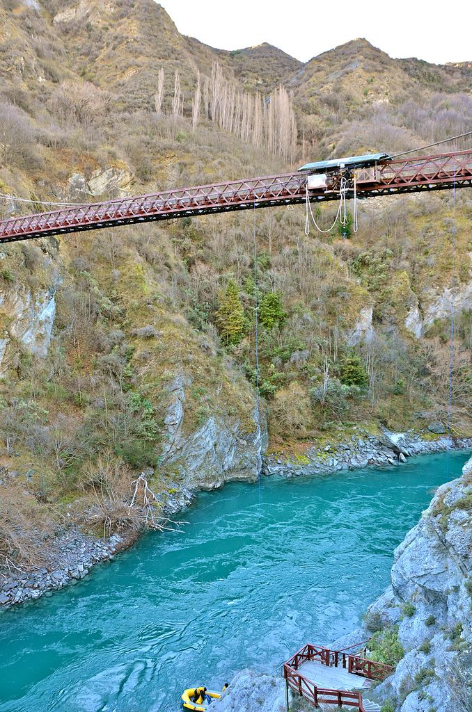 The Kawarau Bridge Bungy, New Zealand - home to the original Bungy Jump.