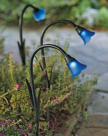 Solar Bluebells for your Alice in Wonderland garden at night.