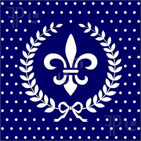 百合の紋章とオリーブの冠