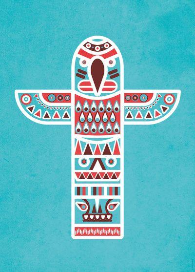 Totem Pole Art Print // © Ludivineem 2013