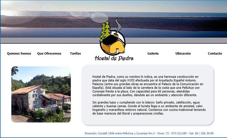 Hostal de Piedra - Chile  Dirección: Condell 1606 entre Pelluhue y Curanipe Km.2 - Fono: 73 - 073-221189 - Cel. 08 / 206 38 89
