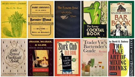 Vintage Cocktail Books, a timeline. Source: Difford's Guide