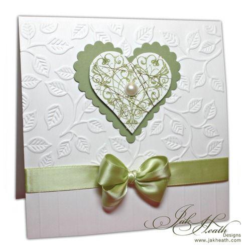 anniversary card, scalloped heart, embossing folder