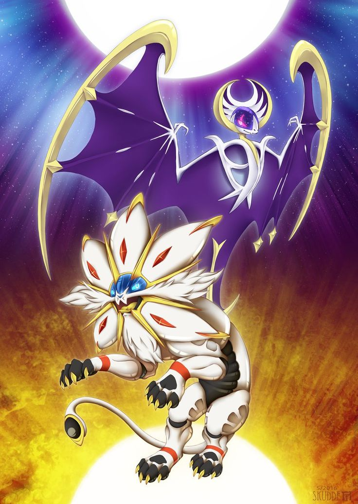 Mane of the Sun ~ Wings of the Moon by Skudde.deviantart.com on @DeviantArt (Solgaleo and Lunala)