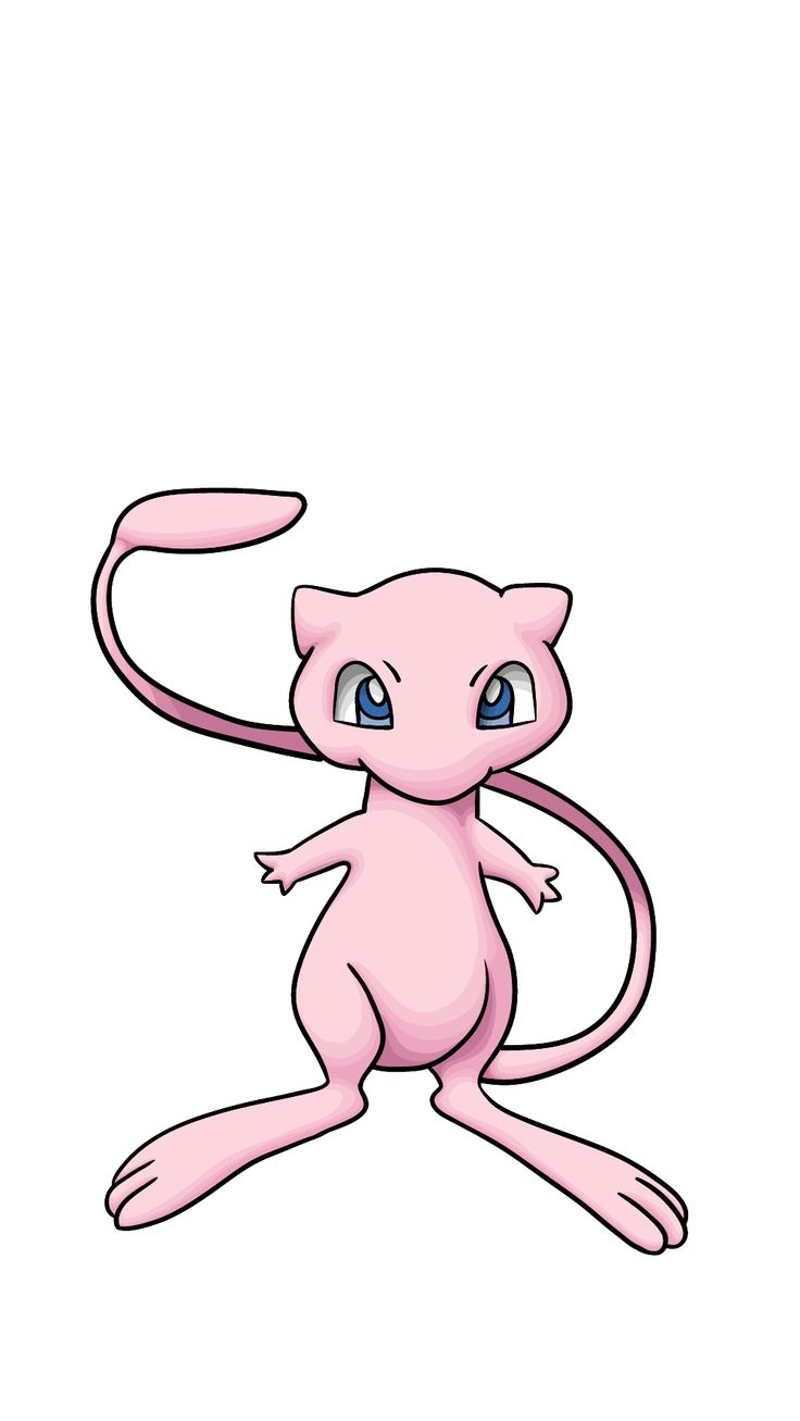 Learn how to draw Mew from Pokemon using few simple ...