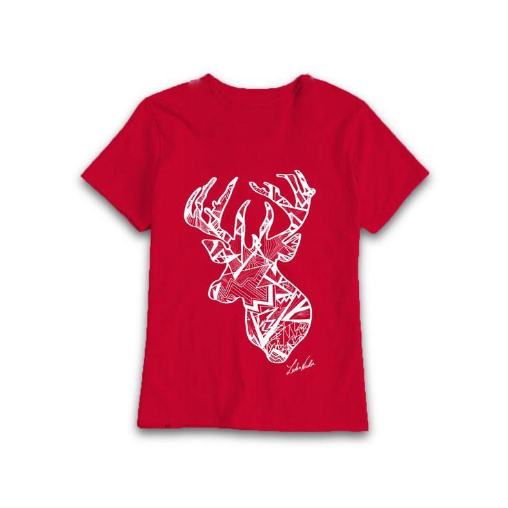 My Digital Painting on red T-shirt Wear My ArT-shirt #lidiaalinanicolae.ro #white #WearMyArt #art #digitalpainting