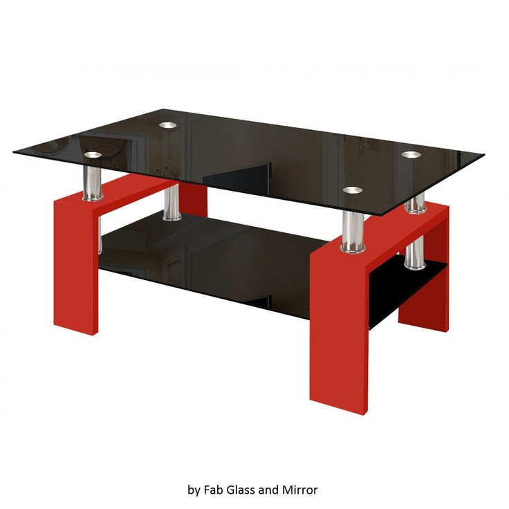 Genial Modern Glass Red #CoffeeTable With Shelf Contemporary Living Room Modern  Style Glass Red Coffee Table