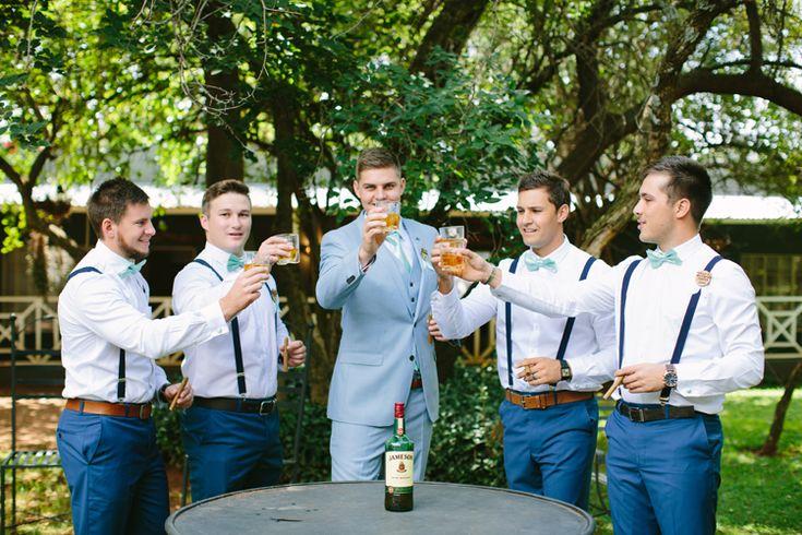 Monique's rustic wedding in South Africa - Maggie Bride wore Almudena And the groomsmen