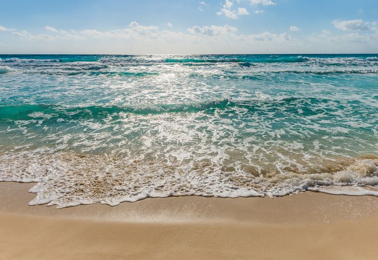 """Fototapeten 8-983 """"Seaside"""" - Dem Horizont entgegen - Das türkisblaue Meer sorgt für eine tolle Strand-Atmosphäre."""
