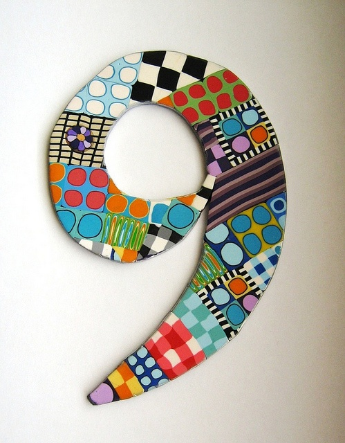 Tania Podoleanu's polymer clay mosaic door number. / I need to find uses for PC other than jewelry, love this